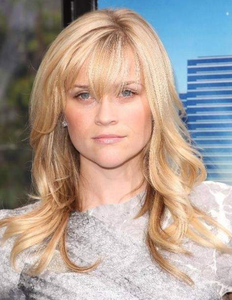 Reese Witherspoon Long Blonde Hairstyle with Bangs