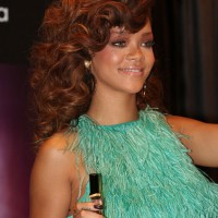 Rihanna Curly Hairstyles for Long Hair