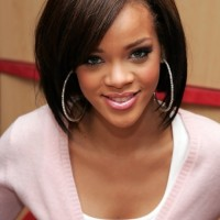 Rihanna Cute Straight Bob Hairstyle