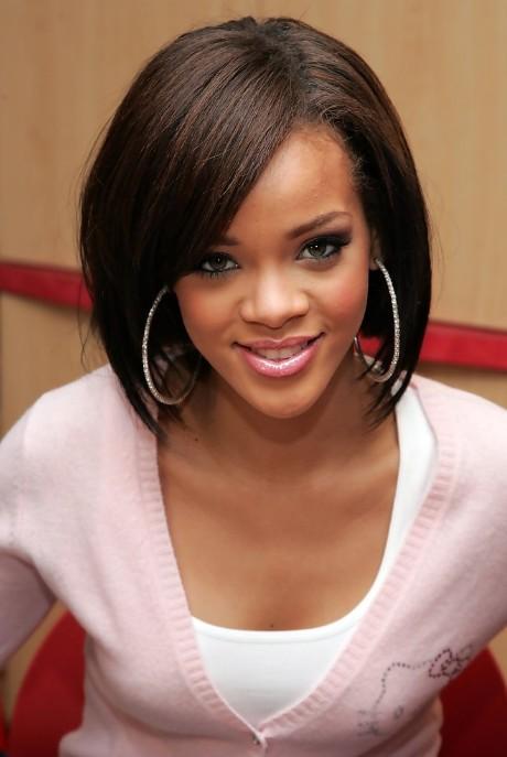 Surprising Easy Daily Hairstyles Rihanna Cute Straight Bob Hairstyle Short Hairstyles Gunalazisus