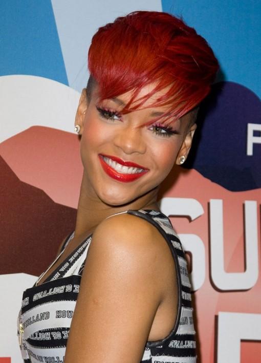 rihanna short red hairstyles wwwpixsharkcom images