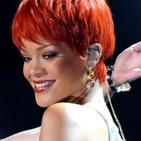 Rihanna Short Haircut: Red Pixie for Summer Days