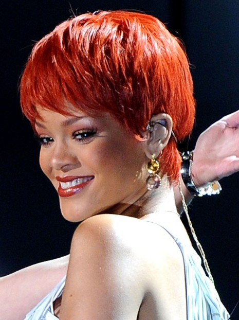 Rihanna Short Haircut Red Pixie For Summer Days