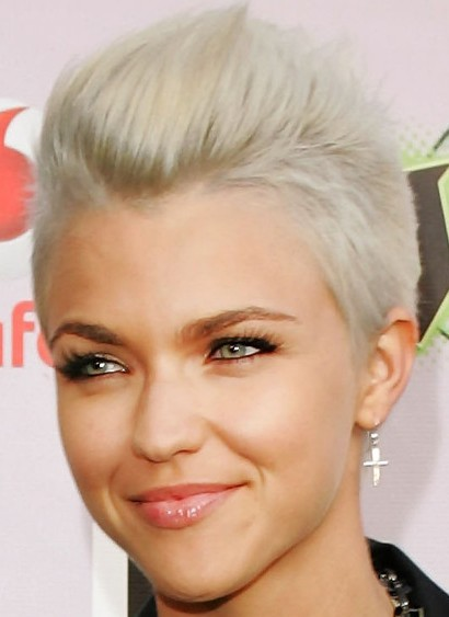 Ruby Rose Short Blonde Pixie Cut