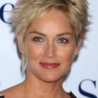 Sharon Stone Short Hairstyles for Mature Women