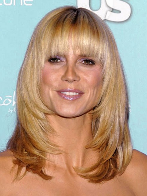 ShoulderLength Hairstyles with Bangs