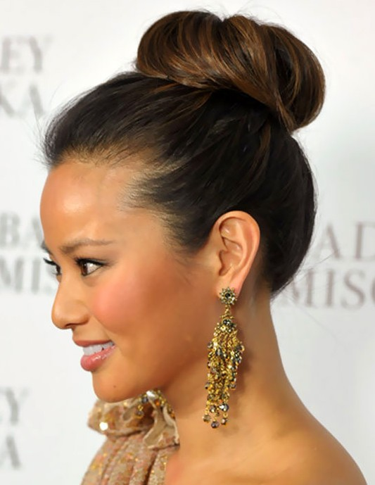 Simple Easy High Bun Updo Formal Updos 2013 Hairstyles Weekly