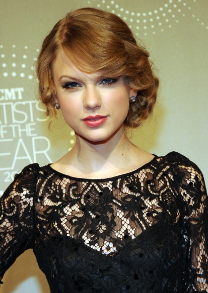 Taylor Swift Retro Updo for Homecoming