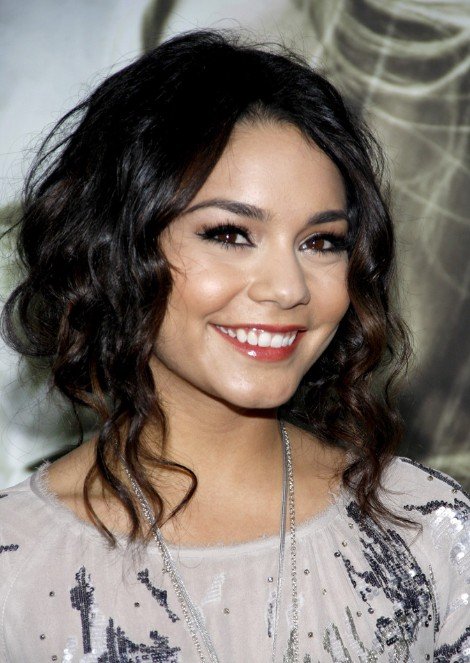 Vanessa Hudgens Loose Curly Bun Updo Hairstyles Weekly