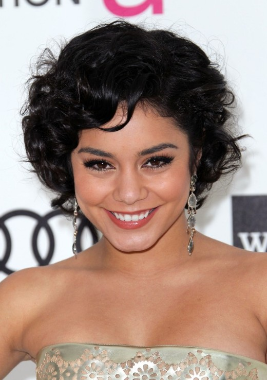 Super Vanessa Hudgens Short Curly Bob Hairstyle Hairstyles Weekly Short Hairstyles For Black Women Fulllsitofus