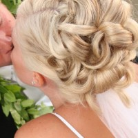 Romantic Wedding Updo Hair Styles