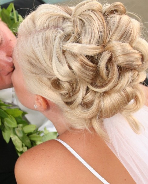 Romantic Wedding Updo Hair Styles