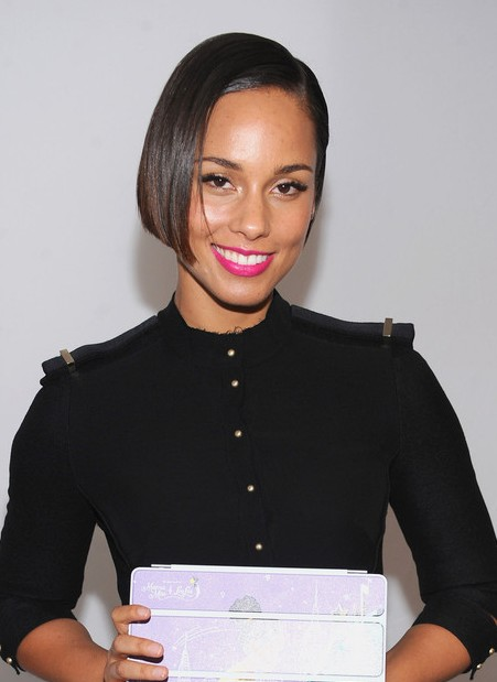 Alicia Keys Classic Short Bob Haircut Hairstyles Weekly