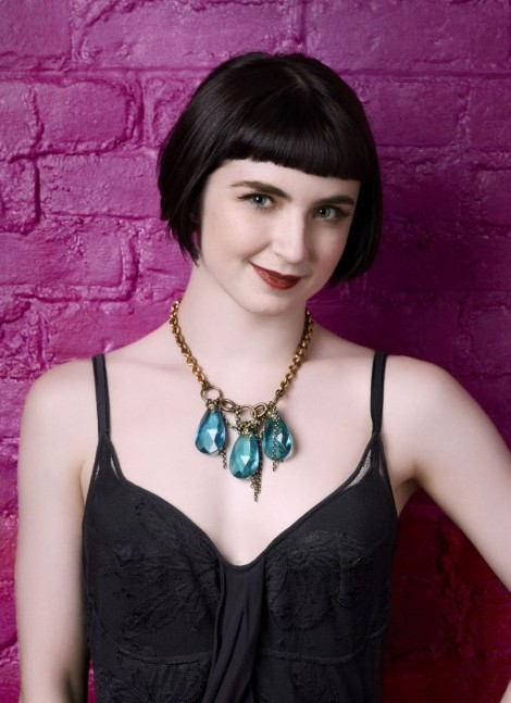 Amelia Lowe Short Haircut with Blunt Bangs