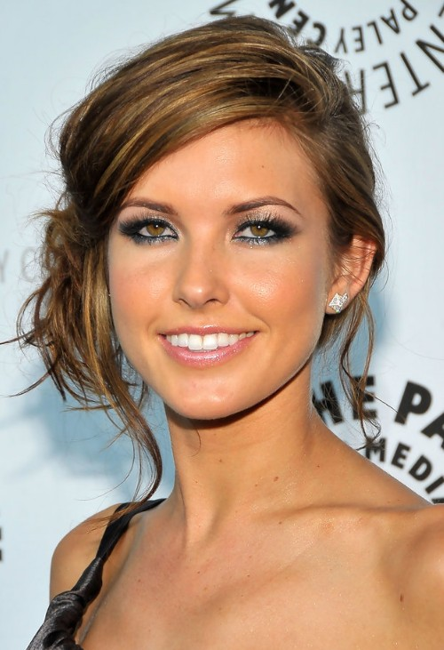 Picture of Audrina Patridge Loose Bun Updo /Getty Images ...