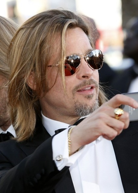 Awesome Brad Pitt Layered Long Hairstyle For Men Hairstyles Weekly Short Hairstyles For Black Women Fulllsitofus