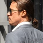 Brad Pitt Ponytail Hairstyle for men