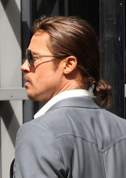Groovy Brad Pitt Haircut Stylish Casual Ponytail For Men Hairstyles Weekly Short Hairstyles Gunalazisus