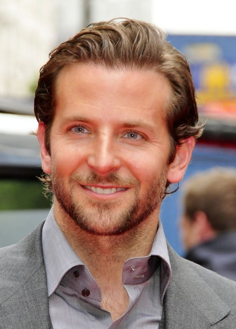 Bradley Cooper Hairstyle Layered Slicked Back Haircut For