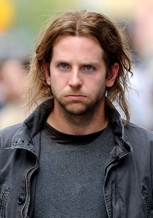 Fabulous Bradley Cooper Center Parted Long Hair Styles For Men Hairstyles Short Hairstyles Gunalazisus
