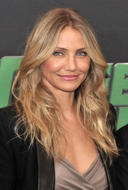 Cameron Diaz Layered Long Hairstyle For Mature Ladies