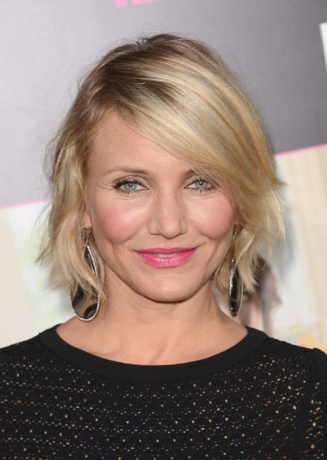 Cameron Diaz Layered Short Choppy Bob Hairstyle