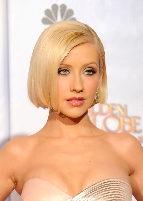 Christina Aguilera Bob Haircut