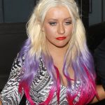 Christina Aguilera Ombre Hair
