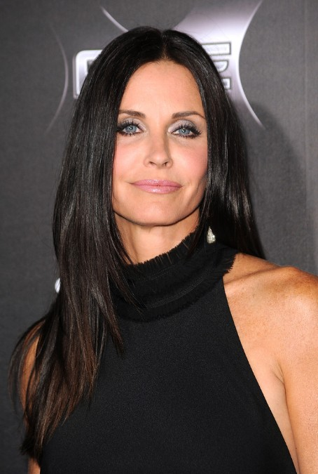 Courteney Cox Center Part Long Straight Hairstyle