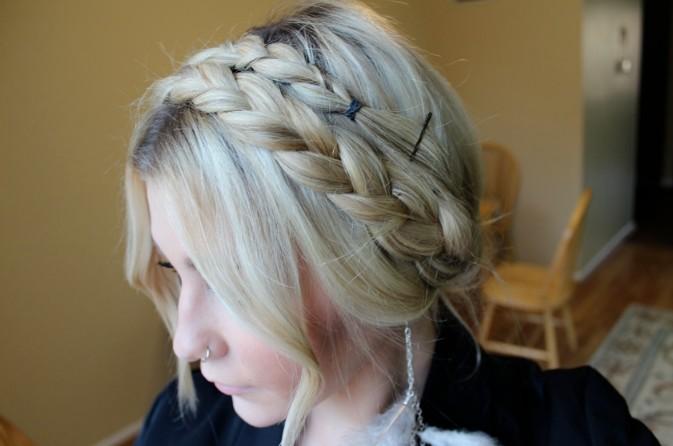 Milkmaid braids