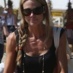 Denise Richards Side Braided Hairstyle