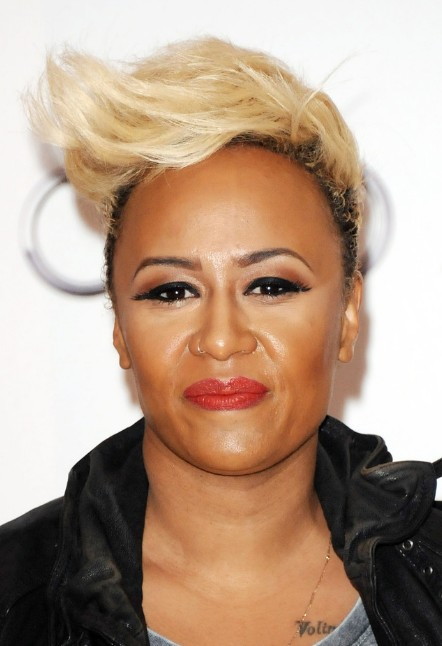 Emeli Sande Short Hairstyles Blond Skyscraper Spiked