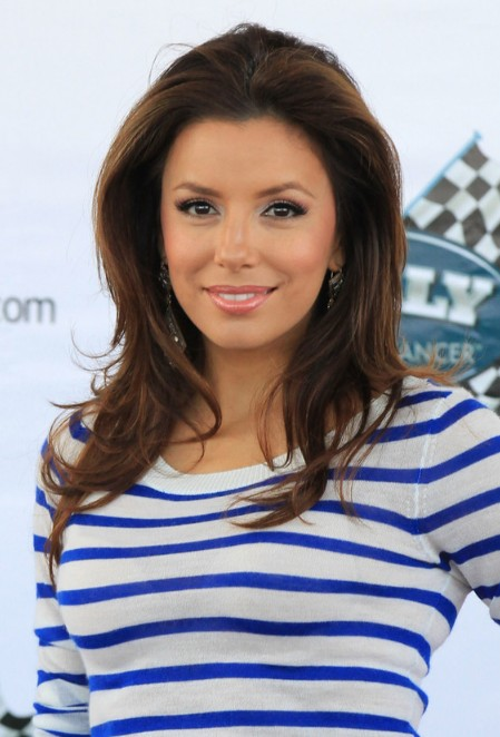 Eva Longoria Layered Long Hairstyle