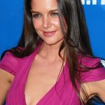 Katie Holmes Long Center Parted Sleek Hairstyle