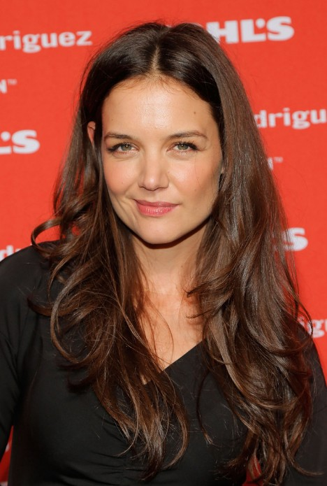 katie holmes long layered wavy hairstyle - hairstyles weekly