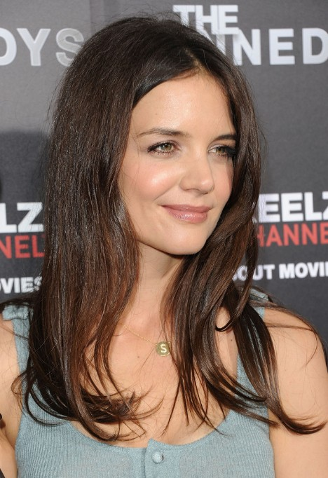 Superb Katie Holmes Simple Easy Long Straight Hairstyle Hairstyles Weekly Short Hairstyles For Black Women Fulllsitofus