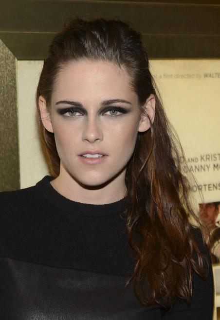 Remarkable Kristen Stewart Loose Half Up Half Down Hairstyle Hairstyles Weekly Short Hairstyles Gunalazisus