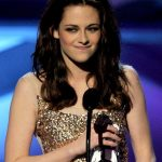Kristen Stewart Long Center Parted Dark Hairstyle