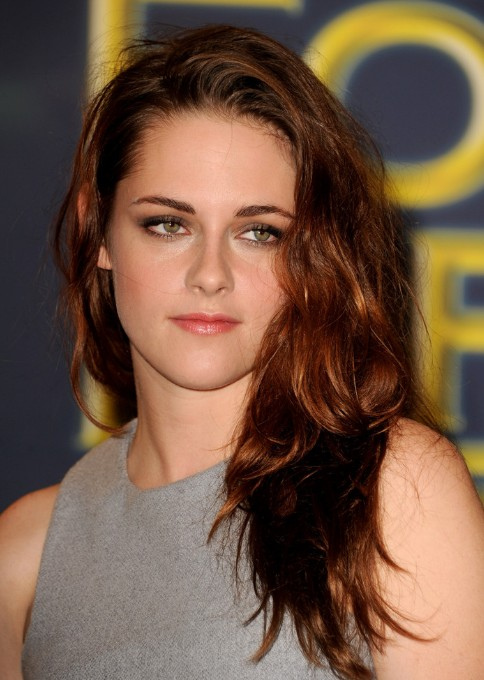 Kristen Stewart Long Red Wavy Hairstyles