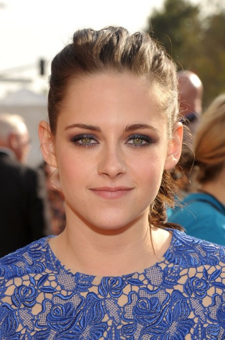 Kristen Stewart Simple Casual Ponytail Hairstyles Weekly
