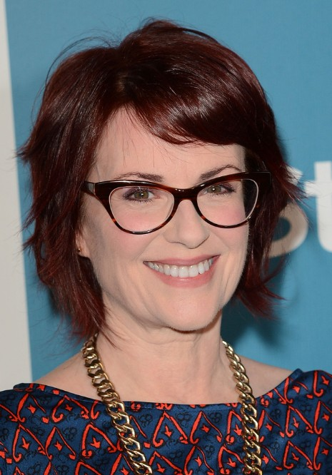 Megan Mullally Layered Choppy Bob Hairstyle