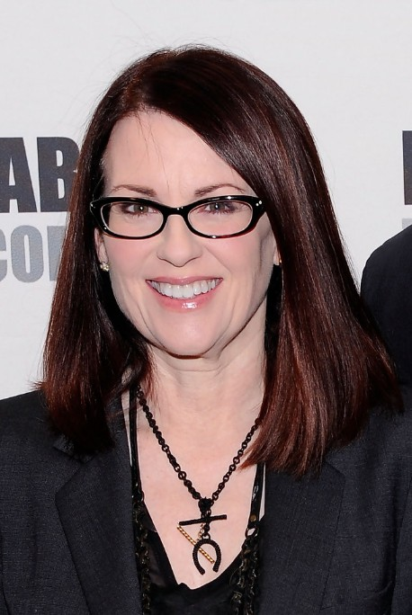 Megan Mullally Long Bob Hairstyle Straight Hairstyle for