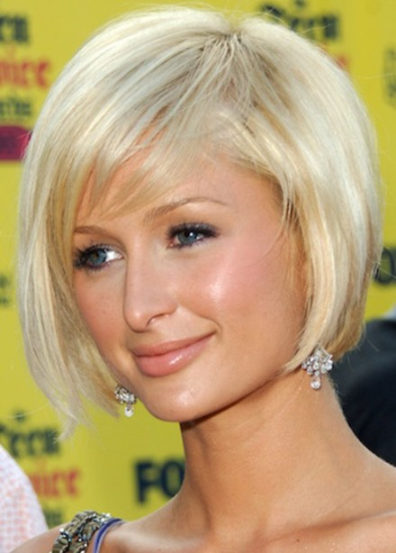 Incredible Paris Hilton Bob Hairstyle Cute Short Blonde Bob Cut Hairstyles Hairstyles For Women Draintrainus