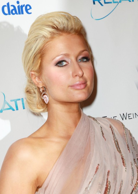 Paris Hilton Chignon Updo