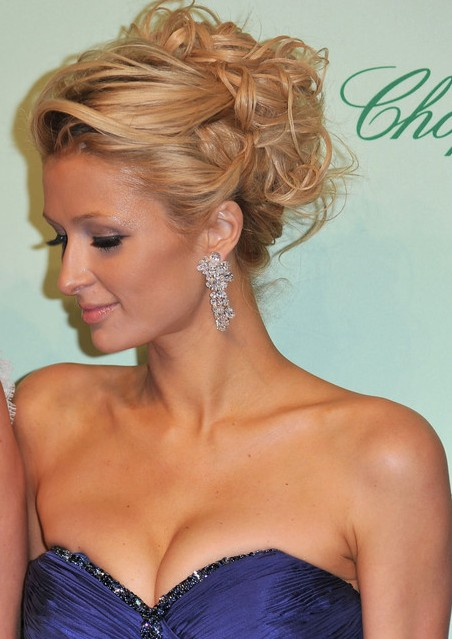 Paris Hilton Curly Updo Hairstyle