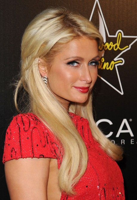 Paris Hilton Layered Long Blonde Hairstyles Hairstyles