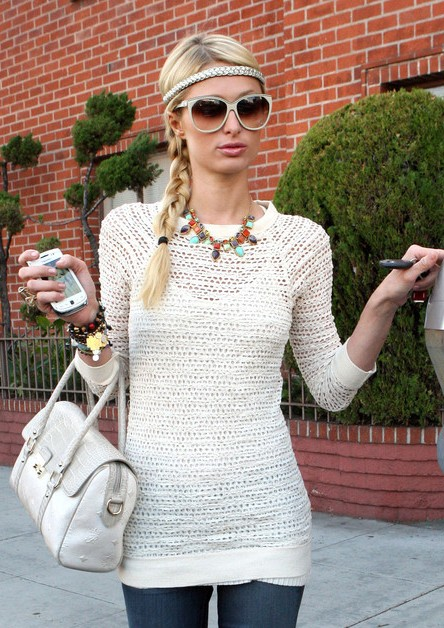 Paris Hilton Long Braided Hairstyles