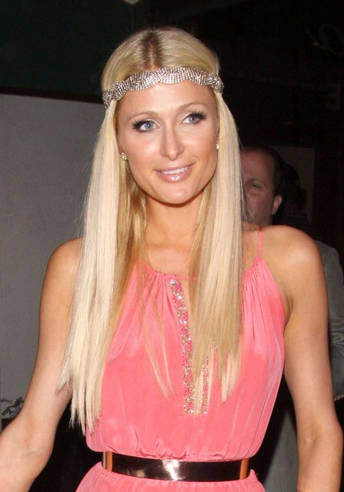 Paris Hilton Long Sleek Hairstyles
