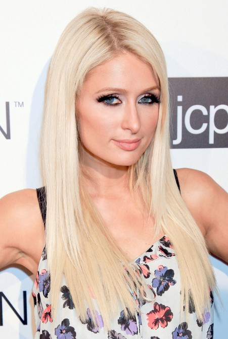Paris Hilton Long Straight Hairstyles