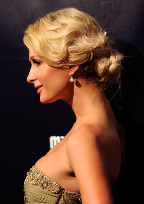 Paris Hilton Retro Updo for Wedding